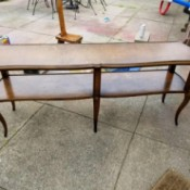 Information on a Vintage Table - long 6 legged, 2 tier table
