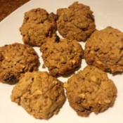 Peanut Butter Cereal Cookies on plate