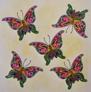 Swarm of Ornamental Butterflies