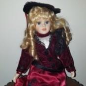 Identifying a Porcelain Doll - fancy dressed doll
