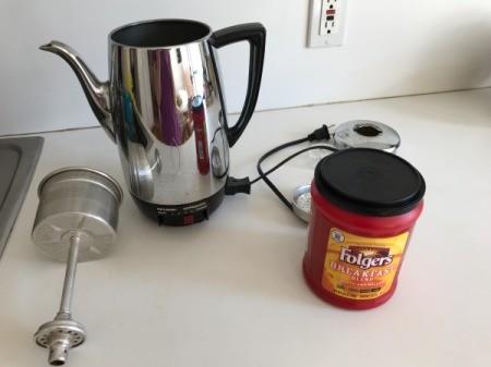 How to Brew Coffee in a Percolator - remove the interior parts