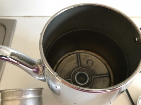 How to Brew Coffee in a Percolator - add water