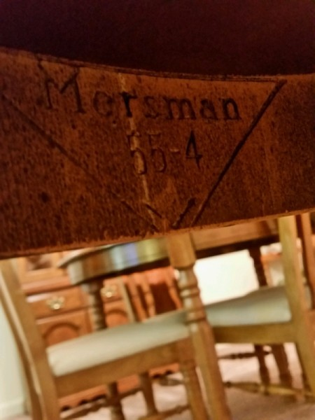 Value of a Mersman 55-4 Table