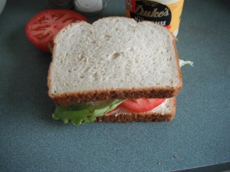 closed Tomato Sandwich