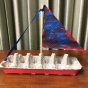Egg Carton Sail Boat - finished boat