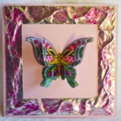 3D Ornamental Butterfly Birthday Card - finished card