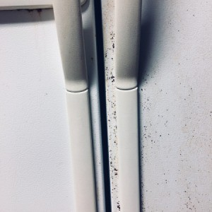 Repairing Damage to the Finish on a Textured Refrigerator - texture removed from near the handles