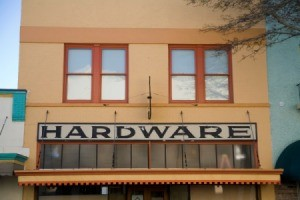 Old Hardware store front.