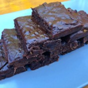 Avocado Banana Chocolate Brownies on plate