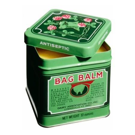 Tin of green Bag Balm.