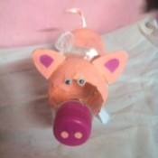 Piggy Bank with Money Separator - finished piggy bank