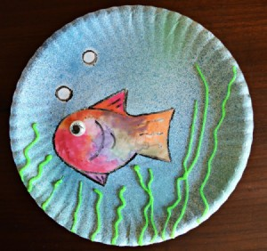 Under the Sea Kids Craft - finished artwork