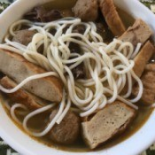 bowl of Vermicelli and Beef