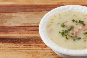 Cabbage, Ham and Potato soup.
