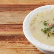 Cabbage, Ham and Potato soup.