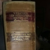 Value of a 1934 Webster's Dictionary - spine