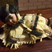 Value of a Porcelain Doll - Native American doll