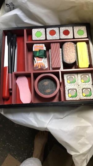 A play sushi set with parts from different sets.