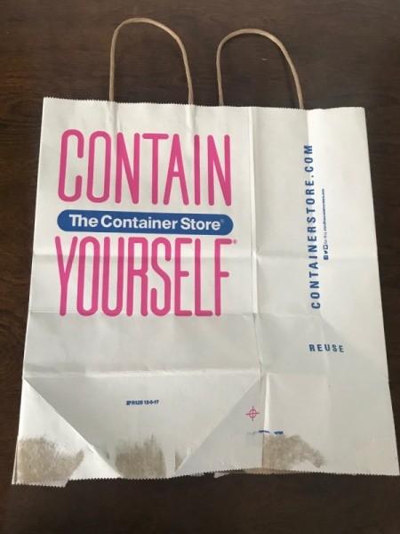 Upcycle a Kraft Paper Store Bag - flatten