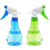 Blue and Green spray bottles