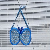 Butterfly Suncatcher Using Unique Lids - hang from ribbon