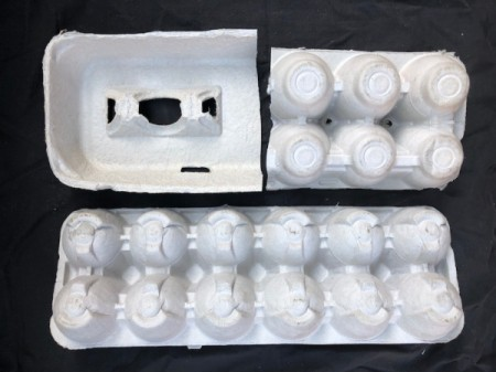 Egg Carton Alligator - cut the bottom off one carton, cut the other in half and then split top from bottom