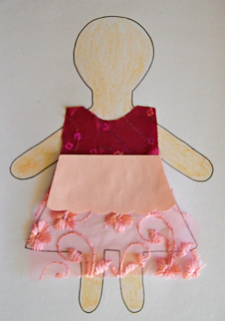 Flower Girl Kid Collage Activity - color the head, arms, and legs