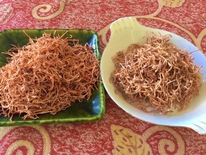 Dried Carrots with and without lemon juice