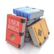 Pile of user manuals.