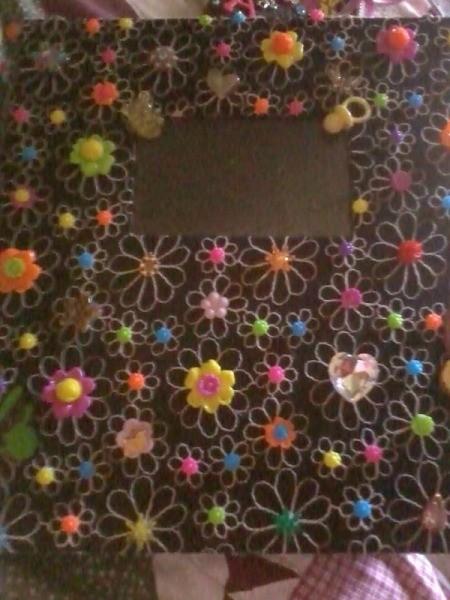 Baby Photo Album  - flower decorated album with a photo window