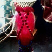 Decorated Flower Vase - decorated flower vase