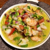 Shrimp Ceviche in bowl