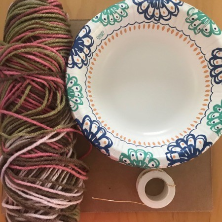 Recycled Cardboard Ring and Yarn Dreamcatcher - supplies