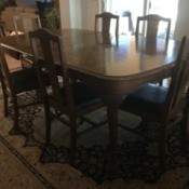 Value of an Antique Mersman Oak  Table - photo of the set