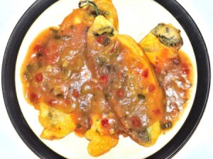 Chile Rellenos on plate