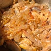 shrimp shells in pot