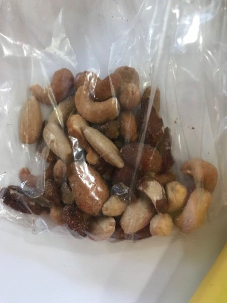 assorted nuts in plastic bag