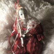 Identifying a Porcelain Doll - clown doll in the more European style