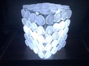 Upcycled Plastik Şişe Kapağı Işık - ışıkları yaktı