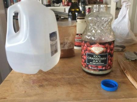adding water to quart jar