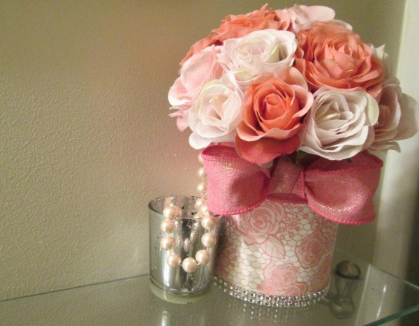 Taking Food Cans And Making Functional Pieces - can filled with fabric flowers