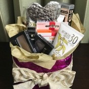 Upcycled Water Jug Gift Basket - finished and filled basket