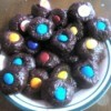 Mallow Filled Choco Graham Balls on plate
