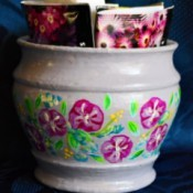 Gardener's Floral Gift Box - decorated pot with seed packets ready to gift