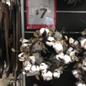 Cleaning a Cotton Boll Wreath