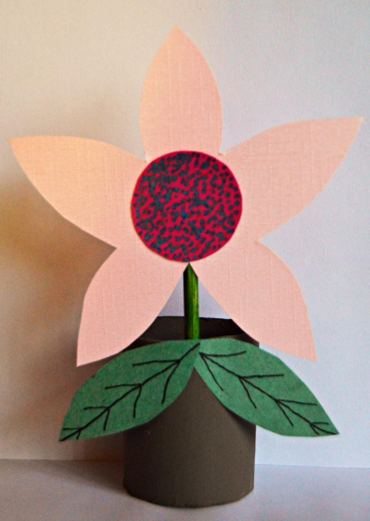 Bits of Paper: Rose Bud Flower Pot | 1688x1200