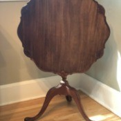 Value of Antique Tilt Top Table - round tilt top table