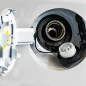 Fuel cap off of a car tank.