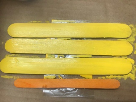 Hanging School Bus Picture Frame - paint them yellow