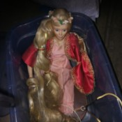 Identifying a Porcelain Doll - doll with long blond hair